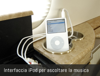 Interfaccia iPod per ascoltare la musica
